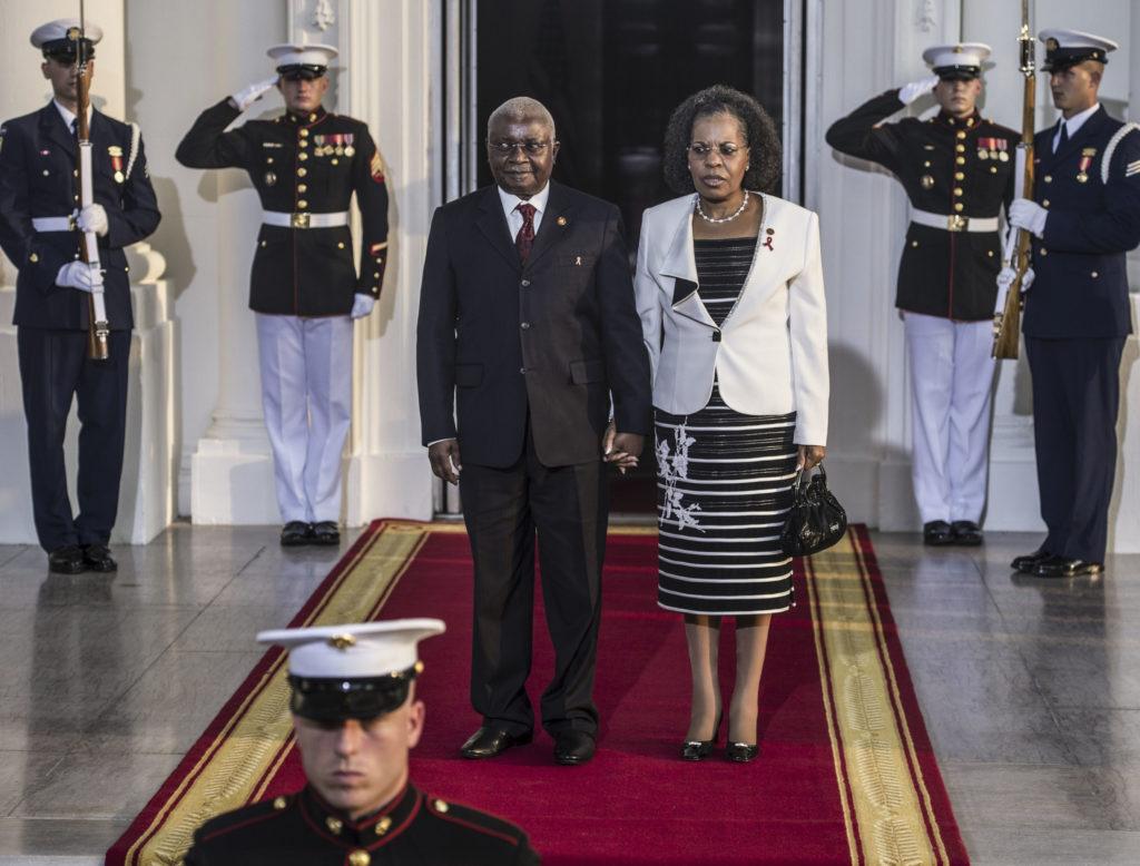 Former Mozambique president Armando Guebuza